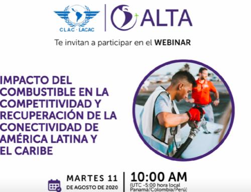 Webinar «Impacto del Combustible en la Competitividad y Recuperación de la Conectividad Aérea de América Latina y El Caribe»