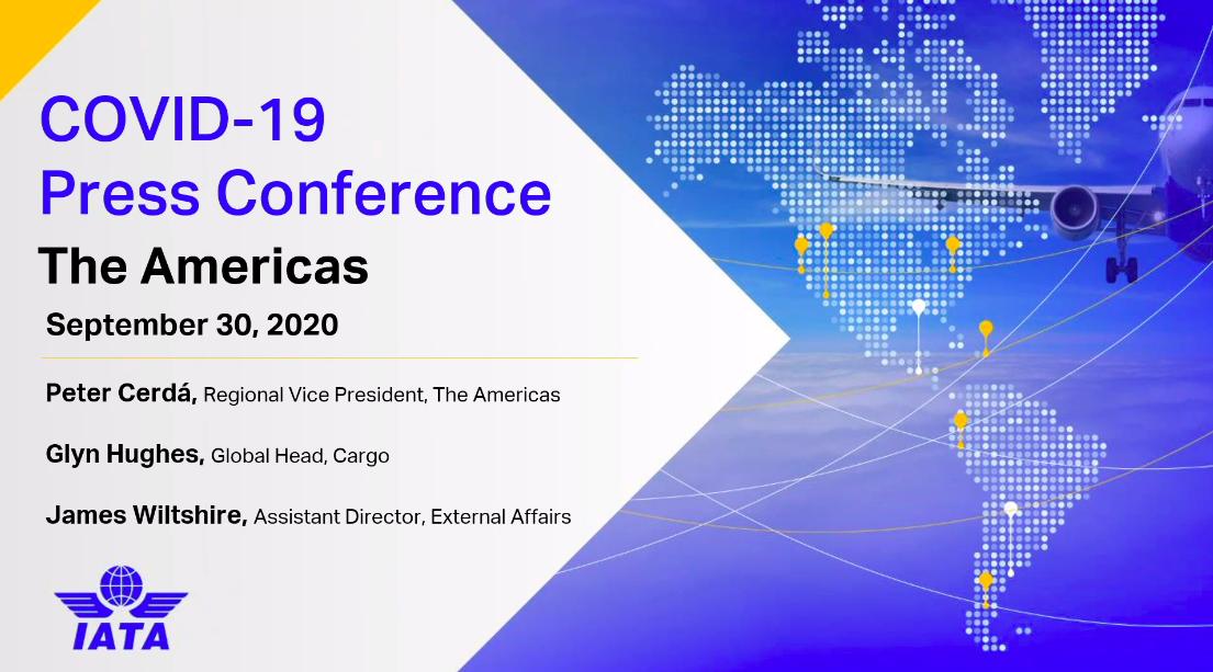 IATA Media Conference Call / Convocatoria de Prensa Virtual 30SEP20