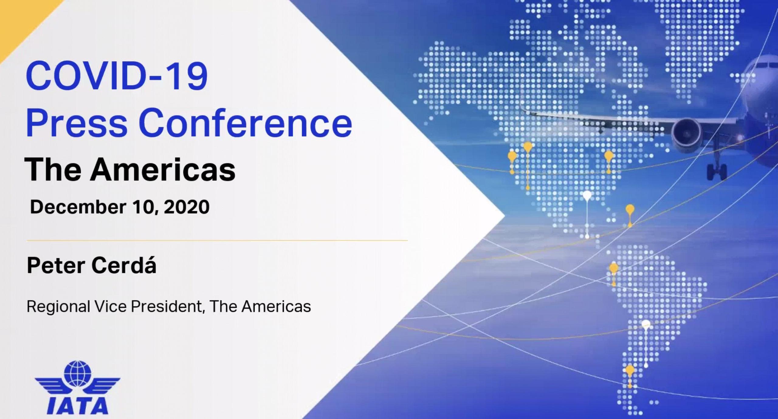 IATA Media Conference Call / Convocatoria de Prensa Virtual 10DEC20