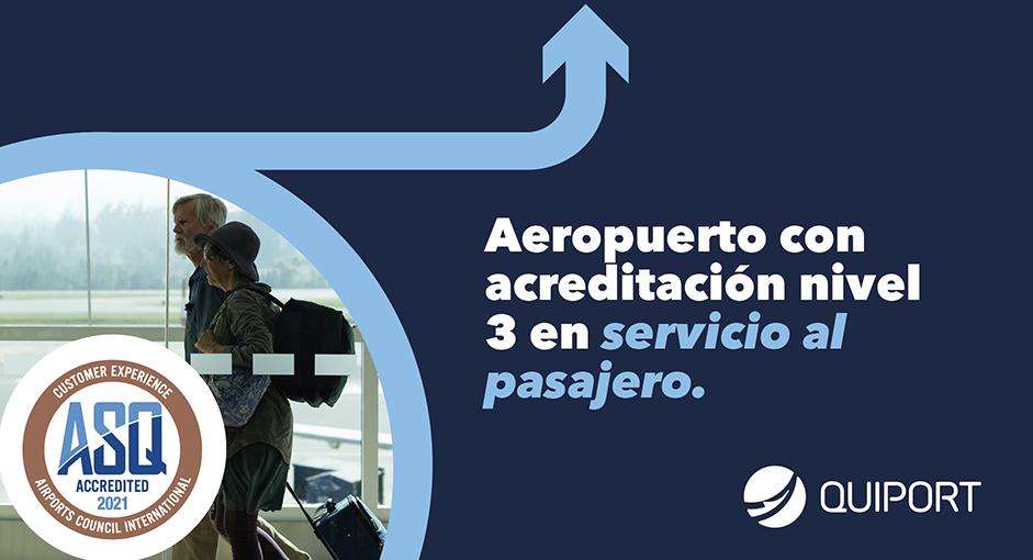 Aeropuerto de Quito Renueva la Acreditación Nivel 3 de Servicio al Pasajero